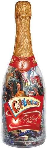 Celebrations Champagner Flasche Weihnachten 320g, 1er Pack (1 x 320 g Flasche)