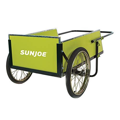 Sun Joe SJGC7 7 Cubic Foot Heavy Duty Garden + Utility Cart, Green