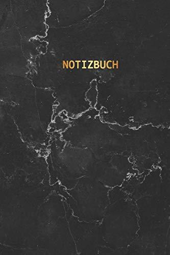 Notizbuch: Trendy Liniertes Notizbuch | Schwarzer Marmor und Gold | Softcover, 120 Seiten (Schöne Notizbücher, Band 2)
