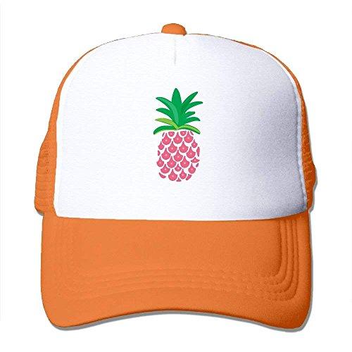 Adult Pink Pineapple Mesh Football Visor Cap Black