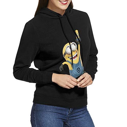 N / A Minions - Sudadera con capucha para mujer, de algodón, con capucha, talla L