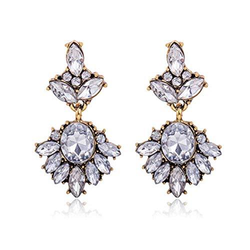 WMYATING Los pendientes son de moda y hermosos, los pendientes de mujer de ShErin Fashion Exagerado Vintage Flor de diamante salvaje