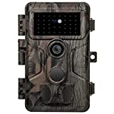 Meidase Wildlife Trail Camera 20MP 1080P H.264 Video No Glow Infrared Night Vision Fast 0.1S Trigger Speed Motion Activated Waterproof for Garden Wildlife Scouting, Hunting, Property Security
