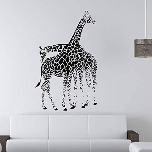 Pegatinas de vinilo para pared decoración del hogar calcomanías es jirafa africana socio pegatinas creativas de pared pegatinas de fondo A2 43X57CM