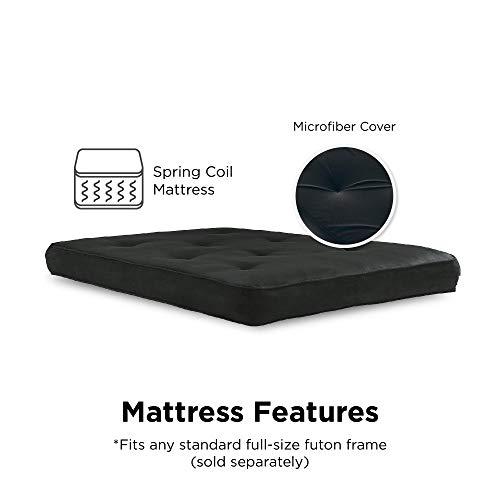 DHP 5425096 6-Inch Memory Foam Mattress, Fits Full Size Futon, 6, Black