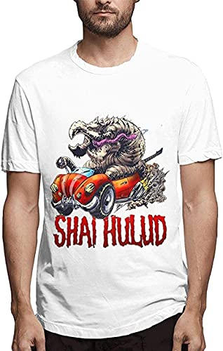 light Saber DUN Hombre Shai Hulud Hermosas Camisetas Sección Delgada Moderno, blanco, L