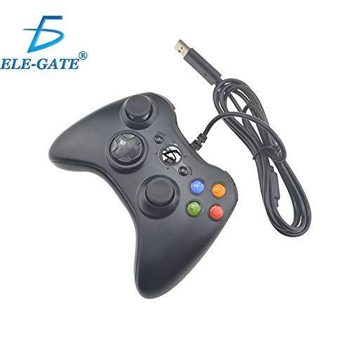 China Control Gamepad Xbox 360 Alambrico USB Pc Windows10 Ele-Gate (negro)