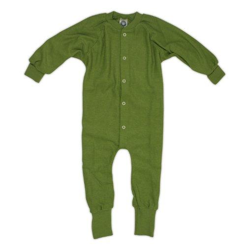 Cosilana Schlafanzug/Overall ohne Fuß, Größe 86, Farbe Kiwi-Grün aus 100% Schurwolle kbT