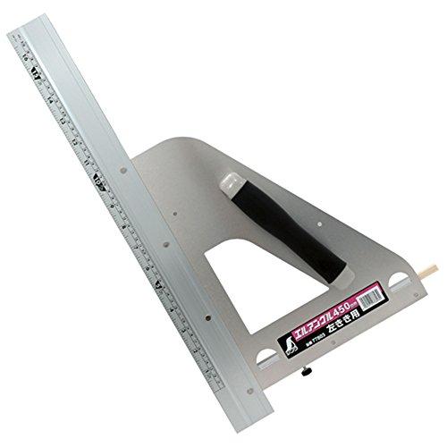 シンワ測定(Shinwa Sokutei) 丸ノコガイド定規 エルアングル450mm 取手付き 左きき用 77803