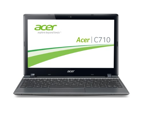 Acer C710-10072G01ii 29,5 cm (11,6 Zoll) Chromebook (Intel Celeron 1007U, 1,5GHz, 2GB RAM, 16GB SSD, Intel HD, Chrome) grau