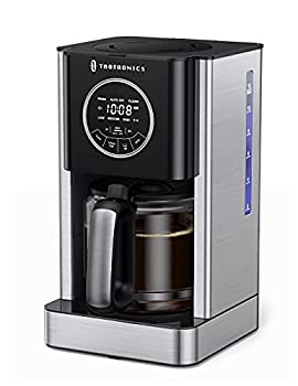 Drip Coffee Maker 12 Cup Programmable TaoTronics Coffee Machine with Glass Coffee Pot Filter and Timer Brew Strength Control Keep Warm Touch Control Anti-Drip Self-Cleaning Function for kitchen
