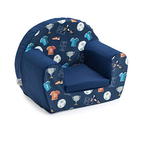 Ready Steady Bed Children Mini Armchair   Kids Sofa Seat Chair   Great for Playroom Kids Room Living Room   Lightweight and Durable (Champion)