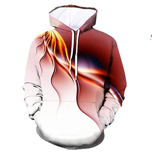 XDJSD Sudaderas para Hombre Sudaderas con Capucha Chaquetas Tipo Suéter De Talla Grande Suéteres Estampados para Hombre Tops con Estampado De Tigre Colorido