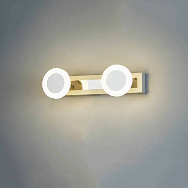 &Spiegelleuchte LED Spiegel Front Ligh, wasserdicht und Anti-Fog Bad Badezimmer Spiegel Lampe Wand Lampe Mode einfache moderne Lampe (Farbe   Weies Licht-30cm)