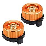 MIZOMOR 2 Piezas Adaptador de Gas Adaptador de Estufa de Gas Conector Adaptador de Transferencia para Botella Gas para Acampar al Aire Libre Recipiente de Butano Atornillar Adaptador