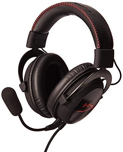 HyperX Cloud - Auriculares de diadema cerrados para gaming (micrófono extraíble, almohadillas...