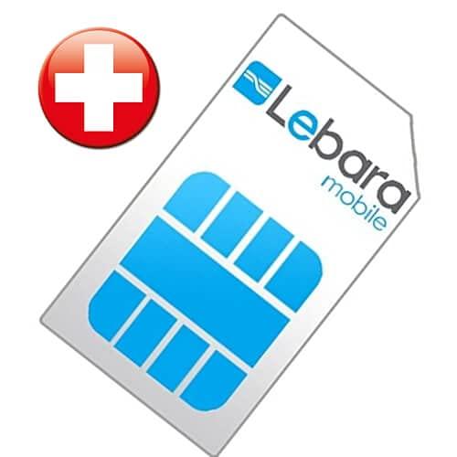 Lebara Schweiz SIM-Karte Prepaid mit Ausweis-Registrierungsservice durch beachSIM