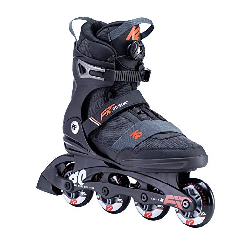 K2 Skates Herren F.I.T. 80 BOA Inline Skates, Black-orange, 44 EU (9.5 UK)