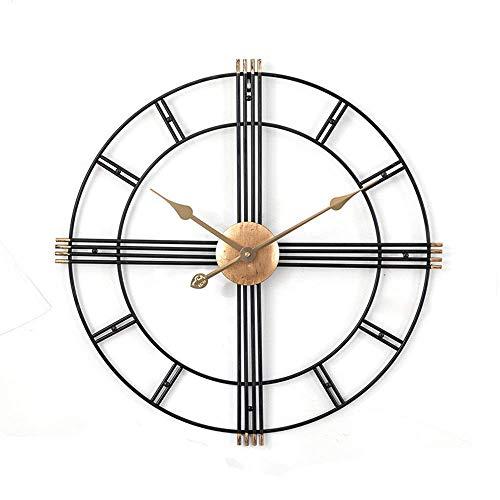 AMAFS Reloj de Pared nórdico Moderno Minimalista Sala de Estar Hierro Arte Artesanía Personalidad Reloj Atmósfera Moda Creativa Mudo Metal Happy House