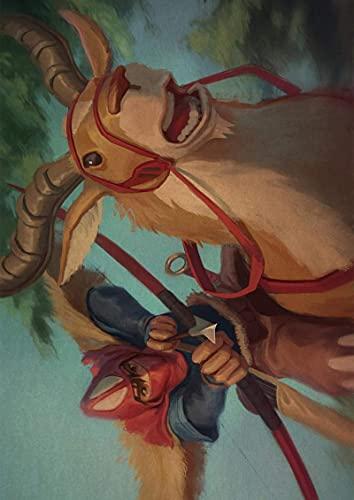 Ghibli Film Princesse Mononoke Affiche Toile Peinture Affiches et Gravures Mur Art Photo pour Salon Décor À La Maison (JQ-1439) 40x50cm No frame