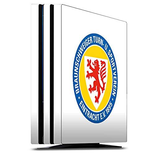 DeinDesign Skin kompatibel mit Sony Playstation 4 PS4 Pro Folie Sticker Offizielles Lizenzprodukt Eintracht Braunschweig Wappen