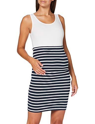 MAMALICIOUS Damen MLLEA Organic Y/D Tube Skirt Umstandsrock, Mehrfarbig (Navy Blazer Stripes:Snow White), 36 (Herstellergröße: S)
