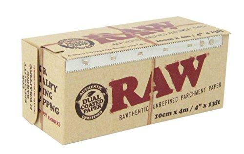 Raw sin refinar papel de pergamino rollo de papel