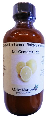 OliveNation Lemon Emulsion for Baking, Water Soluble, Kosher, Gluten Free, Vegan, PG Free - 4 ounces