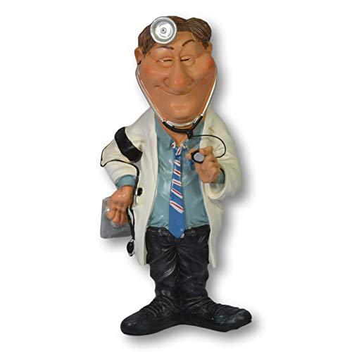 Warren Stratford Figura Decorativa de Resina Pintada a Mano. Alto de 200 mm. Diseño de Doctor.