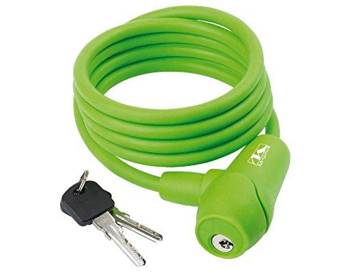 Silikon-Spiral-Kabelschloss S 8.15S 8x1500mm, grün M-Wave