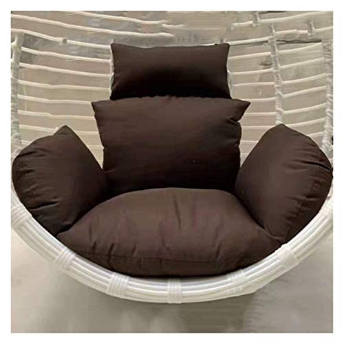 DYYD Egg Chair Cushion Wicker Rattan Hanging Egg Hammock Chair Cushion Without Stand, Patio Swing Chair Cushion Seat Pad for Outside (Color : B)