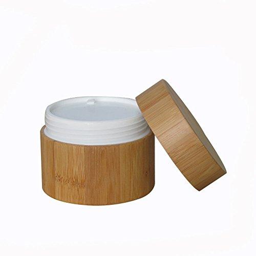 100 ml - En bambou - Pour le corps - Vide - Rechargeable - Pour les voyages et la maison