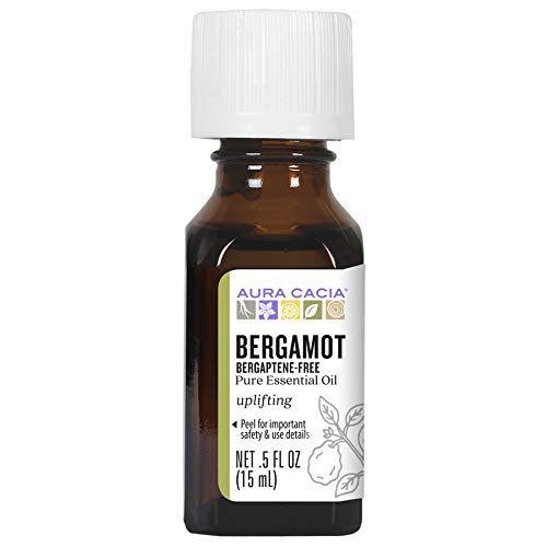 Aura Cacia 100% Pure Bergaptene-Free Bergamot Essential Oil | GC/MS Tested for Purity | 15 ml...