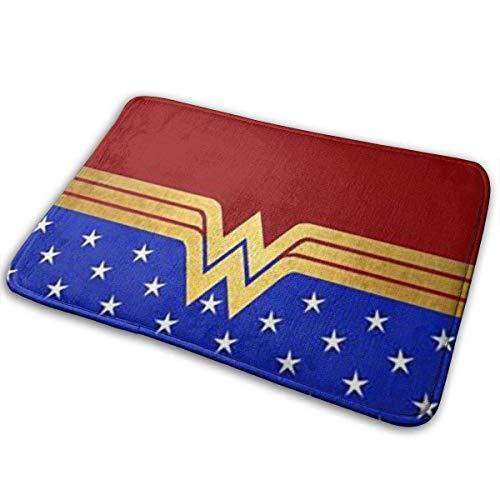 Welcome Entrance Door Mats Wonder Woman 2 felpudo y alfombrilla para perro, 15.7 x 23.6 pulgadas antideslizante felpudos piso alfombrillas raspador de zapatos