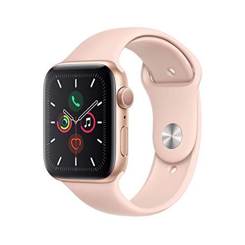 Apple Watch Series 5 44mm (GPS) - Aluminiumgehäuse Gold Sandrosa Sportarmband (Generalüberholt)