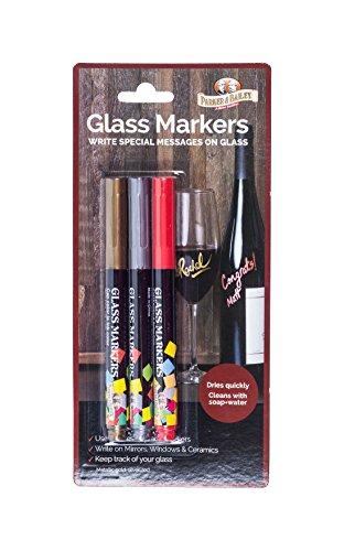 Parker & Bailey Glas Marker 3-Pack Mehrfarbig