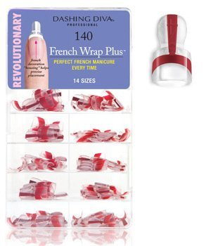 Dashing Diva French Wrap Plus, Thin Deep Red, 140 Count by Dashing Diva