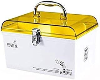 AINIYF Multi-Layer First Aid Kit for Medical Use, Medicine Storage Box, Portable Medicine Box with Safety Lock Kit (Color : Yellow, Size : 30.4x17.3x18.5cm)