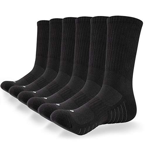 anqier 6 Paar Socken Herren 43-46 39-42 35-38 47-50 Sneaker Socken Damen Baumwolle Wandersocken Arbeitssocken Classic Herrensocken schwarz Trekkingsocken - Bequem und Atmungaktive
