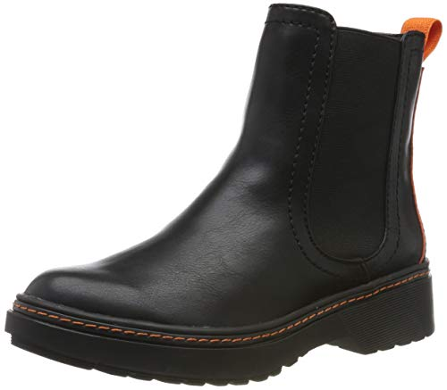Tamaris Damen 1-1-25962-33 075 Chelsea Boots , Schwarz (BLACK/ORANGE 075) , 36 EU