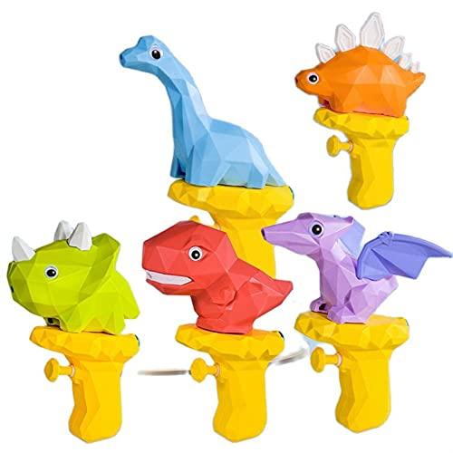 YANLINMY Wasserpistole 3D Dinosaurier wasserpistole für Kinder Sommer niedlichen Cartoon Tyrannosaurus drücke Wasser sprühpistole kleine pistolenpistole Outdoor Strand Garten Spielzeug