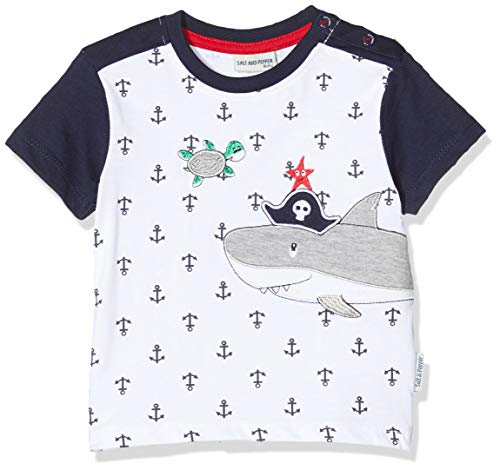 SALT AND PEPPER baby-jongens t-shirt mit Anker Allover Print und Stickerei