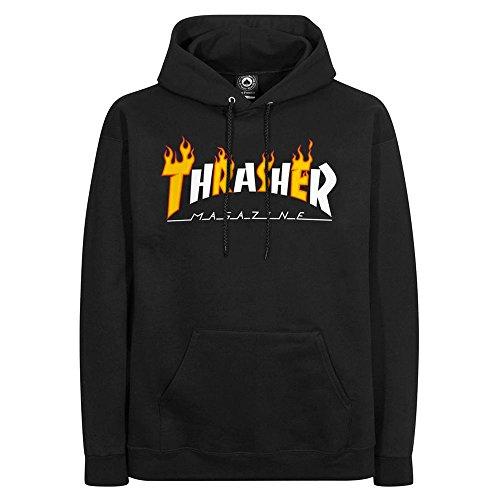 THRASHER Sudadera Flame mag Hood BLK
