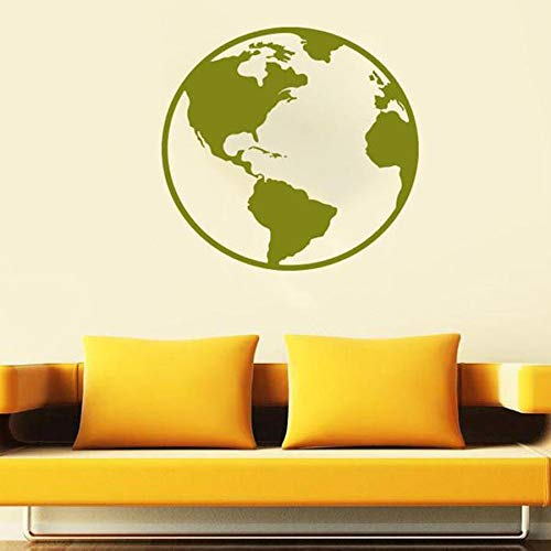 HGFDHG Etiqueta de la Pared de la Tierra Mapa de la Tierra Natural Planeta océano océano Tierra Universo Vinilo Etiqueta de la Pared Oficina Escuela Aula decoración Interior