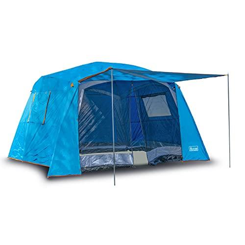 Activa Luxury Garden Outdoor Zelt Pavillon für 4-6 Personen und 3 Jahreszeiten mit Vordach wasserdicht kleines Packmaß einfach aufzubauen sehr geräumig für Camping, Wandern und Outdoor-Aktivitäten