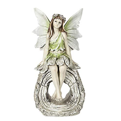 JenLn Garden Art Figurines Angel Figure Sculpture Flower Fairy Character Garden Figurines Decoration Statue Decoration Resin Art Decoration (Color : A, Size : 42X28.5X21cm)