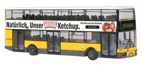 Schuco 496752000 - MAN Lion's City DN 95, Werder Ketchup, Maßstab 1:87