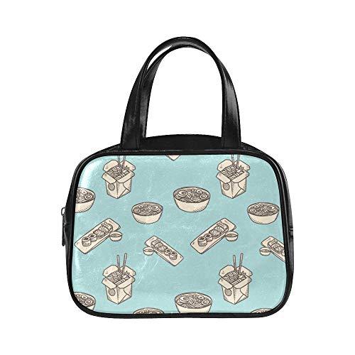 LONGYUU Frauen Taschen Mode Kreative Mode Cartoo Kitchen Wok Mode Taschen Frauen Damen Handtasche Pu Leder Top Griff Satchel Mens Tote Bag