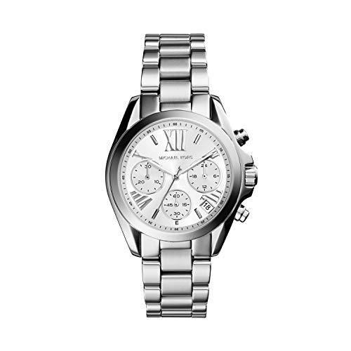Michael Kors Damen Chronograph Quarz Uhr mit Edelstahl Armband MK6174