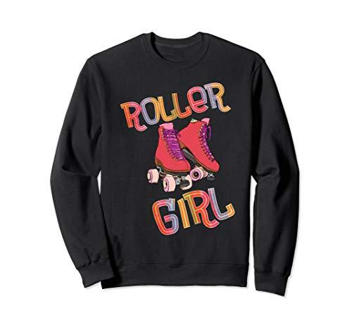 Unisex 80s Roller Girl  Sweatshirt, 5 Colours, S to 2XL